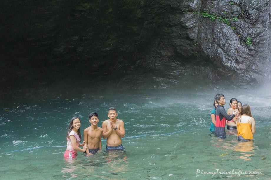 A dip at Ditumabo Falls' freezing waters