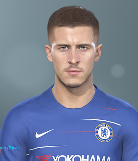 PES 2019 Faces Eden Hazard by Hugimen