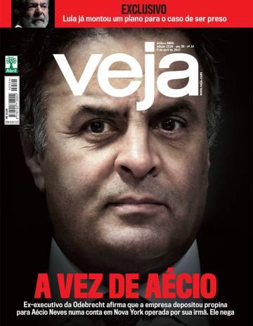 Odebrecht depositou propina para Aécio Neves em Nova York,segundo a revista Veja que sempre o apoiou