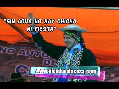 GARCÍA LINERA: SIN AGUA NO HAY CHICHA, SIN AGUA NO HAY FIESTA