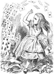 Alice attacked by a pack of playing cards