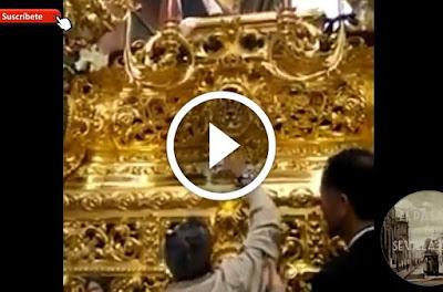 Miguel Loreto Bejarano al llamador del Resucitado de Sevilla el Domingo de Resurrección de la Semana Santa de Sevilla 2017