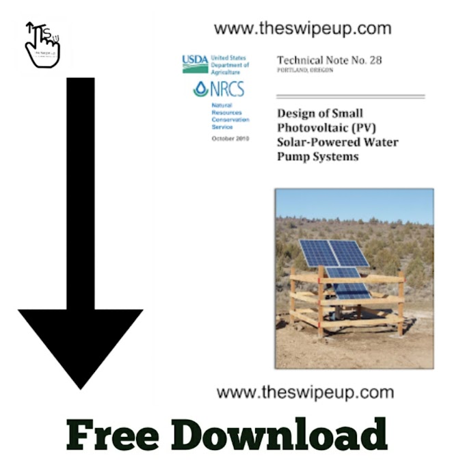 Free Download PDF Of Design of Small Photovoltaic (PV) Solar-Powered Water Pump Systems