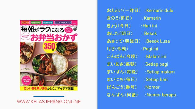 belajar kosakata bahasa jepang dasar buku minna no nihongo 1