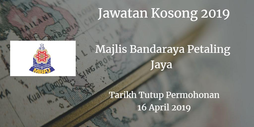 Jawatan Kosong MBPJ 16 April 2019