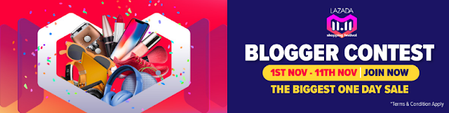 Lazada 11.11 Blogger Contest | THE BIGGEST ONE DAY SALE is coming!