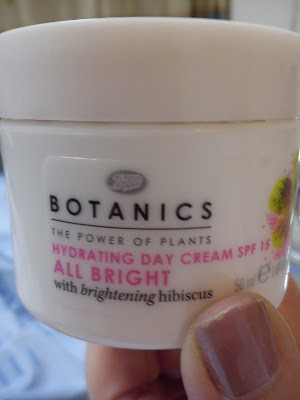Botanics hydrating day cream SPF 15