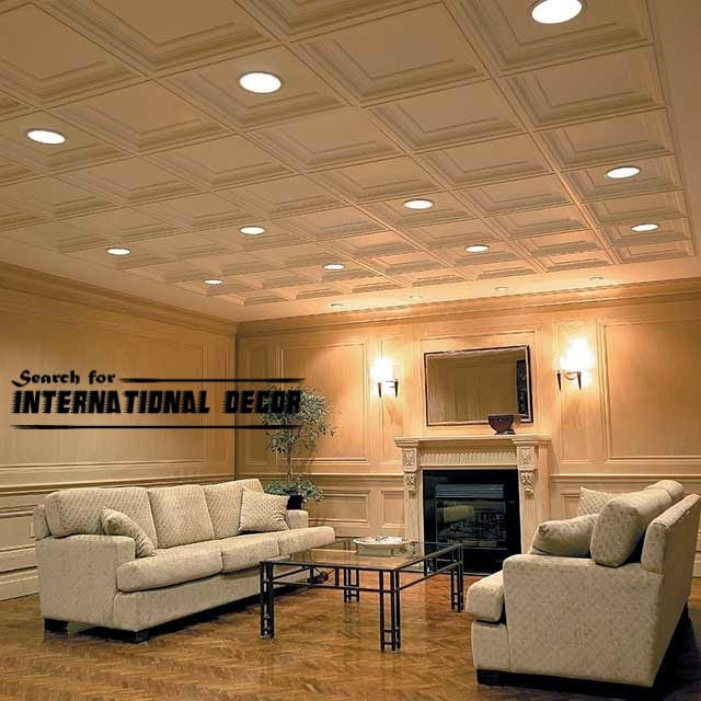 Decorative ceiling tiles with original designs and types ...