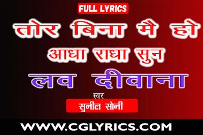 Tor Bina Mei Ho Aadha Radha Sun Lyrics LOVE DIWANA