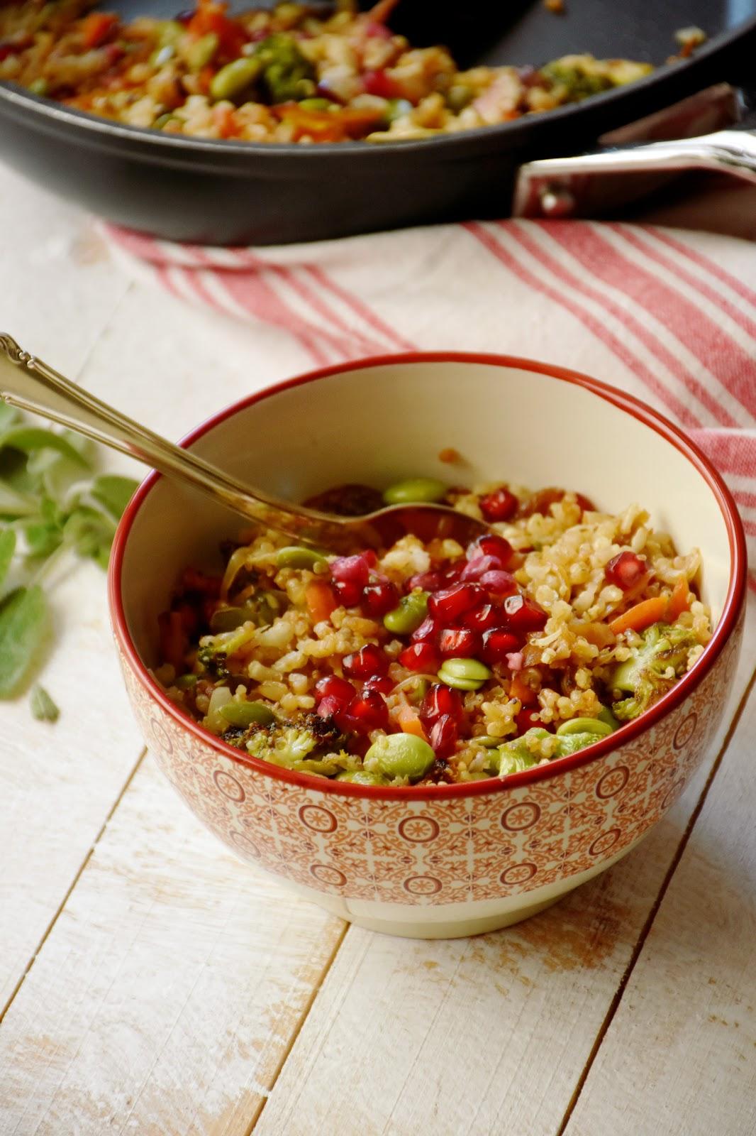 Arroz integral con quinoa y verduras salteadas chez silvia - Cocinar quinoa con verduras ...