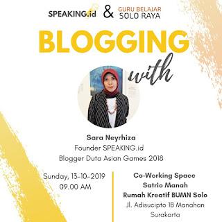 pelatihan blogging di solo