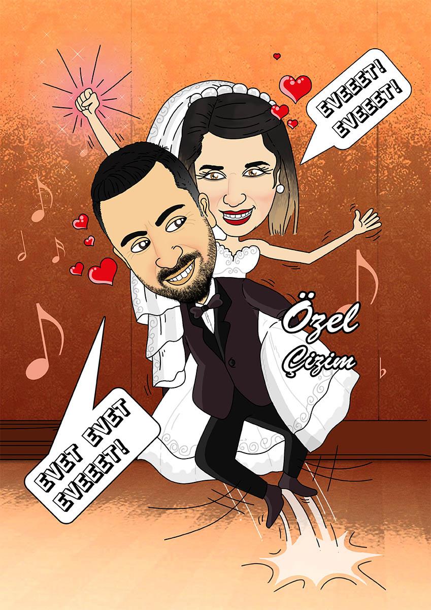 YD, Yıl dönümü hediyesi, evlilik yıl dönümü hediyesi, Evlilik yıl dönümü hediyeleri, düğün hediyeleri, DH, Yıl dönümü hediye, Komik hediye, Hediye karikatür,