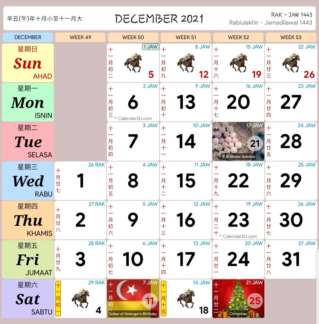 Kalendar 2021 - Rancang Percutian Anda! - Layanlah ...