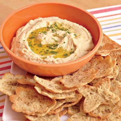 Easy Hummus and Pita Chips