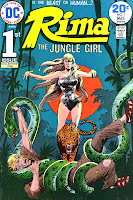 Rima the Jungle Girl v1 #1 dc bronze age comic book cover art by Joe Kubert