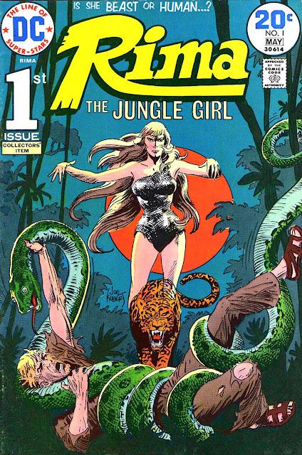 Rima the Jungle Girl v1 #1 dc bronze age comic book cover art by Joe Kubert
