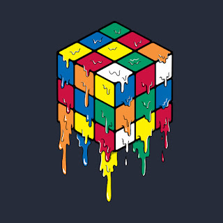 rubik's cube illustration art