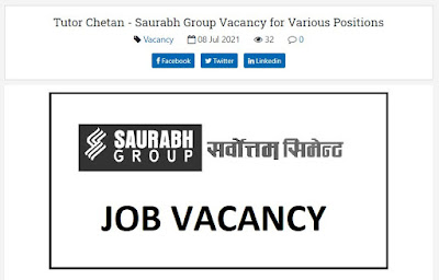 Saurabh Group Vacancy for Various Positions