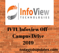 IVTL Infoview Off-Campus Drive 2019