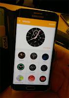 Ytterligare urval du kan göra i applikationen som styr klockans utseende.