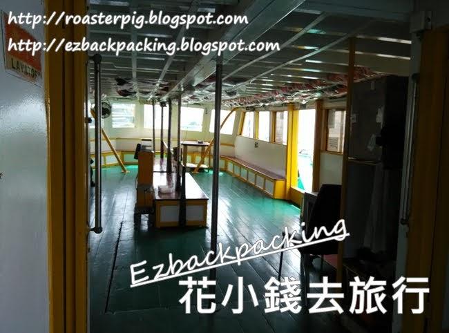 塔門往返黃石碼頭渡輪下層船艙