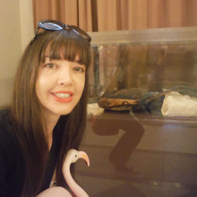 Selfie with a mummy at the Hermitage Museum, St. Petersburg