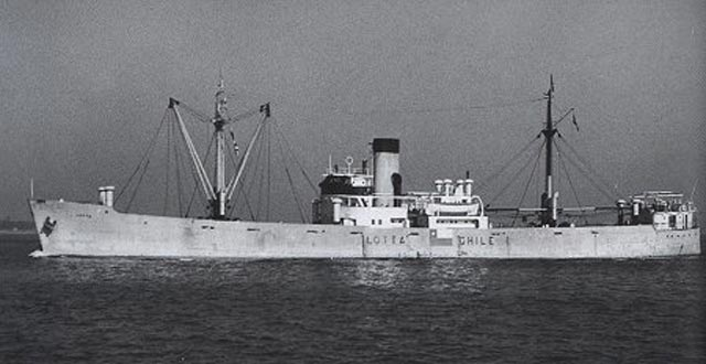 Chilean freighter Tolten, sunk on 13 March 1942 worldwartwo.filminspector.com