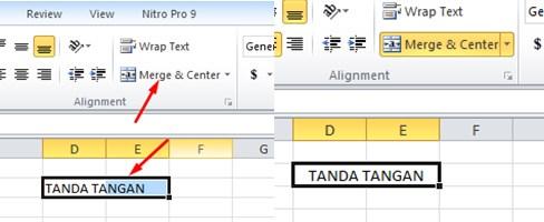 Menggabuangkan atau Marger Kolom di Excel