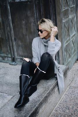 Outfits con botas Negras modernas