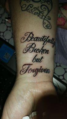 Beautifully Broken Tattoo : beautifully, broken, tattoo, Tattooed, Bohemian:, Beautifully, Broken, Forgiven, Tattoo