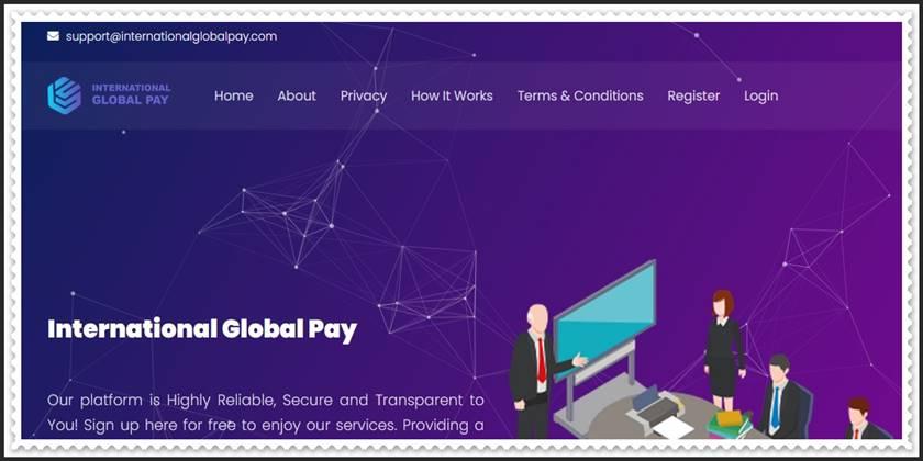 Мошеннический сайт internationalglobalpay.com – Отзывы, развод, платит или лохотрон? Мошенники