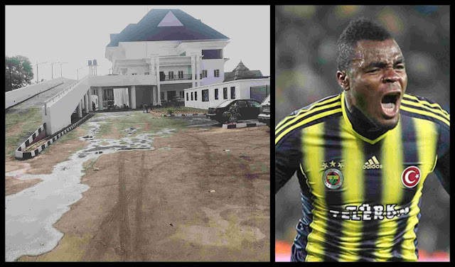 Ex- Super Eagles Star Emenike Shows Off New Home