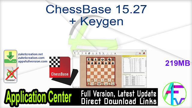 ChessBase 15.27 + Keygen
