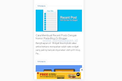 Cara Membuat Iklan Melayang (Sticky) Di Mobile Site Blog Di Blogger