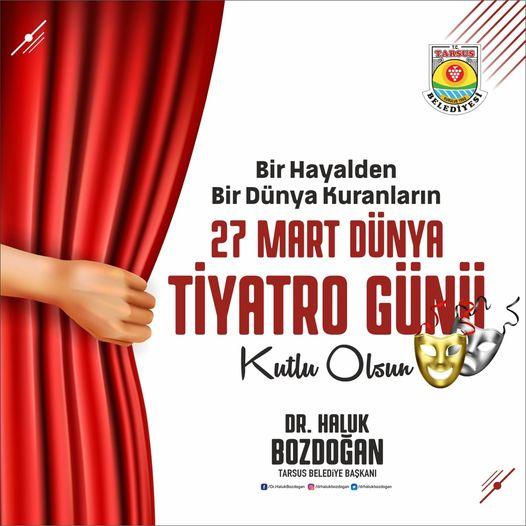Tarsus Belediye Başkanından tiyatroculara kutlama