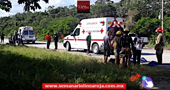 Fallece una turista en accidente carretero