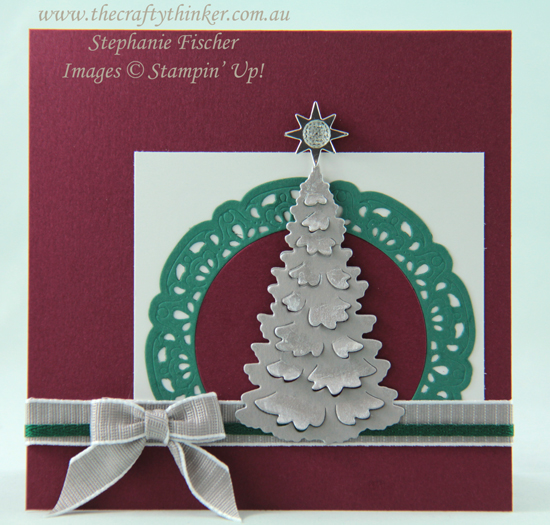 #thecraftythinker  #inthewoods  #detailedbaubles  #christmascard  #cardmaking , In the Woods, Detailed Baubles, Christmas Card, Stampin' Up Australia Demonstrator, Stephanie Fischer, Sydney NSW