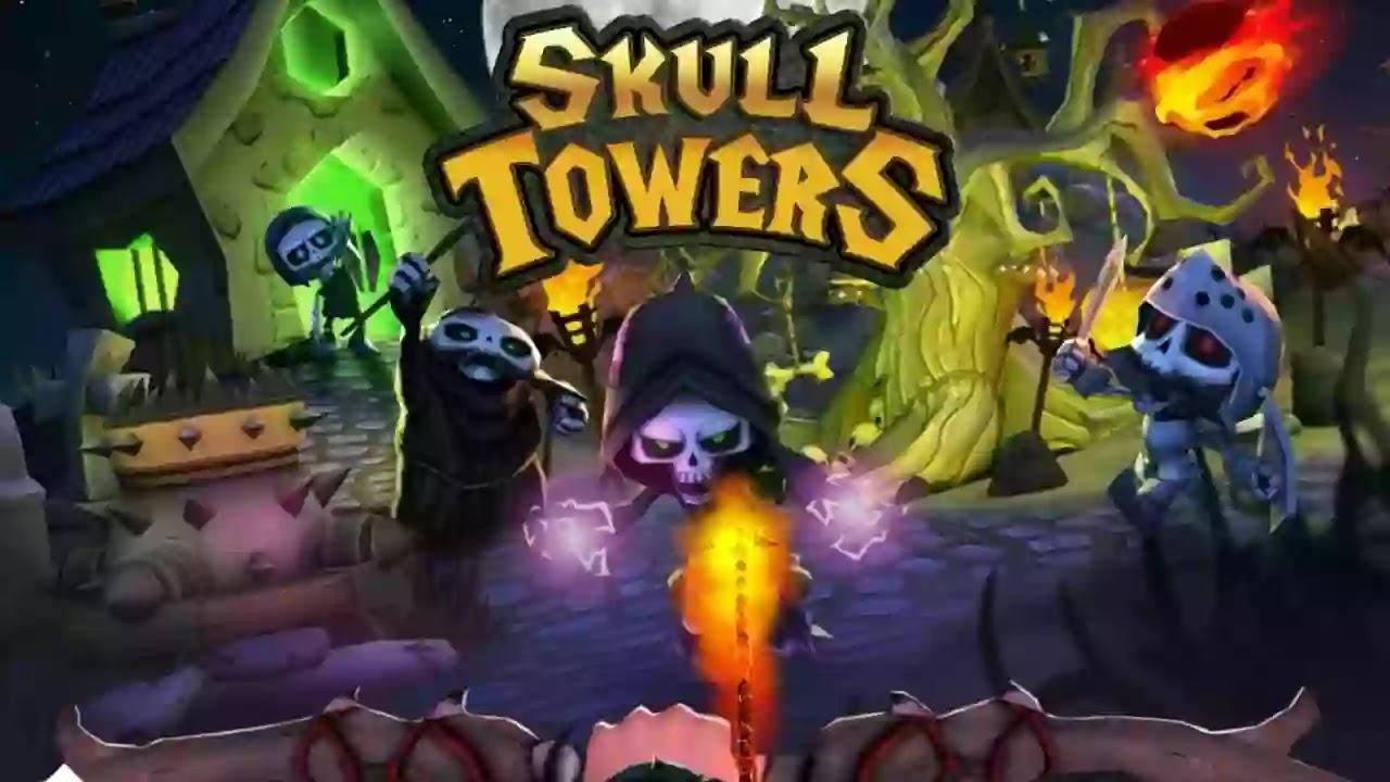 Skull Towers - أبراج الجمجمة  إستراتيجية العاب بلاي مجانا أفضل ألعاب غير متصل بالدفاع عن القلعة