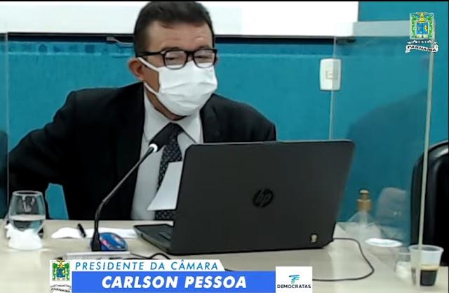 Presidente da Câmara Carlson Pessoa solicita e bancários de Parnaíba são imunizados
