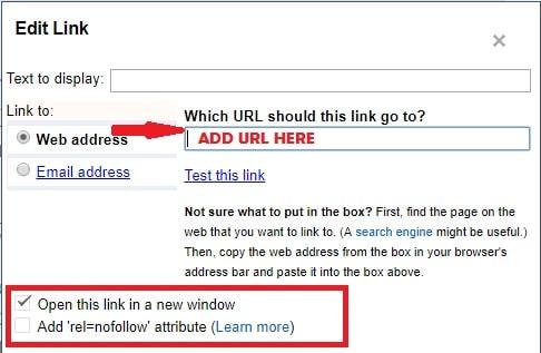 blogger blog nofollow button