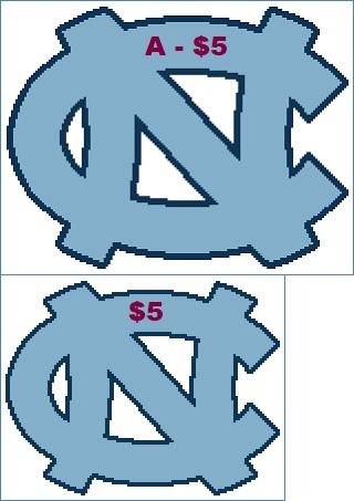 Easy Patterns University Of North Carolina Tar Heels Cross Stitch