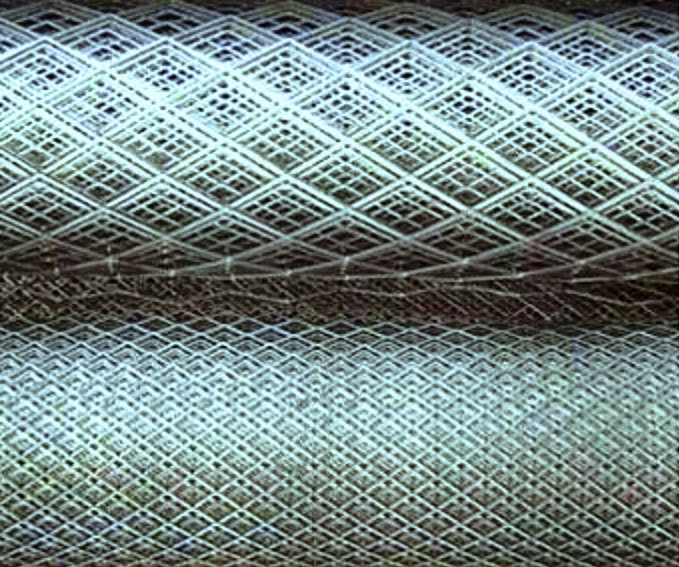 Expanded metal open mesh for no fine concrete