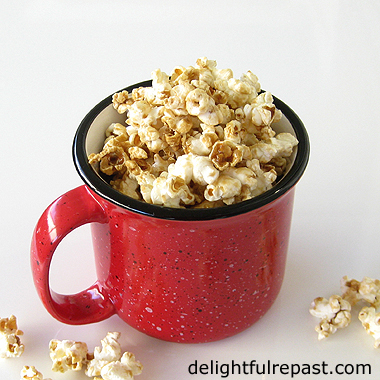 Perfect Popcorn - Crunchy Caramel Corn - Popped with Clarified Butter! (this photo - Caramel Corn) / www.delightfulrepast.com