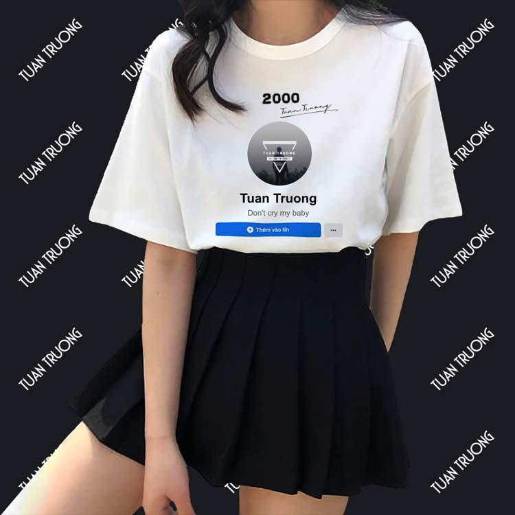 Ghép ảnh trang cá nhân facebook vào áo thun