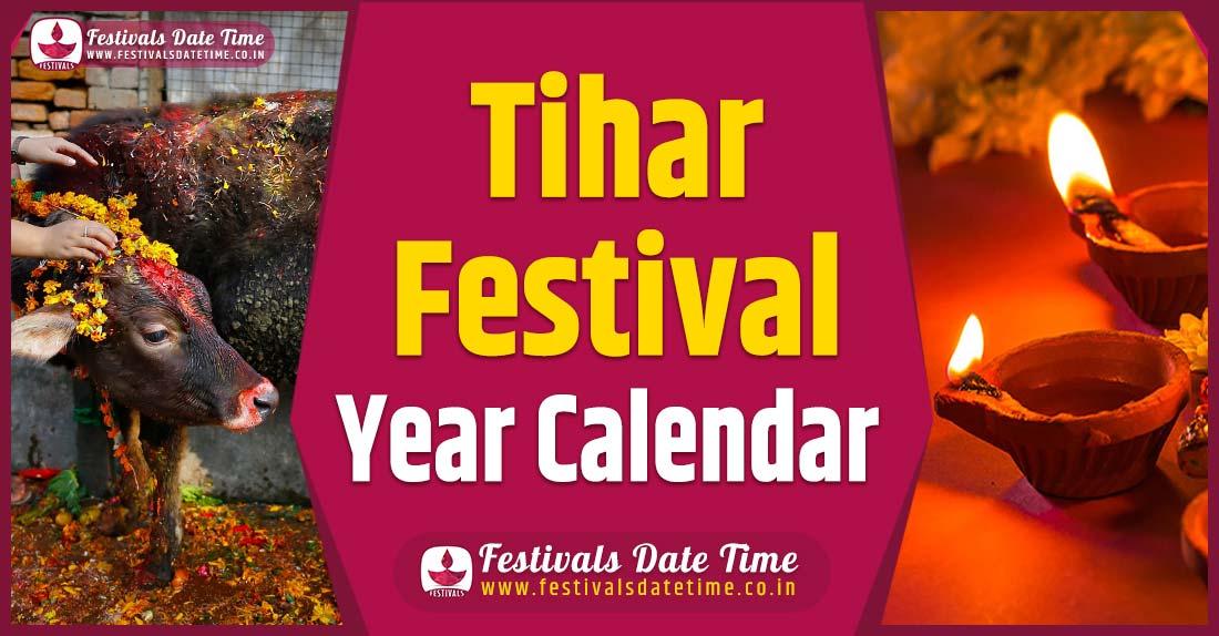 Tihar Year Calendar, Tihar Nepali Calendar