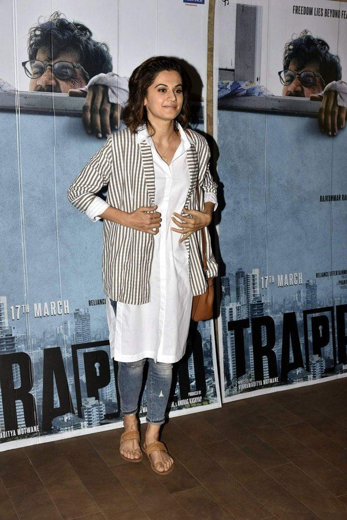 Taapsee Pannu At Screening Of Film Trapped Photos