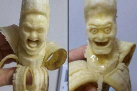 Γλυπτά από μπανάνες...