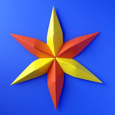 origami Stella convessa, 6 punte - Convex star, six-pointed © by Francesco Guarnieri