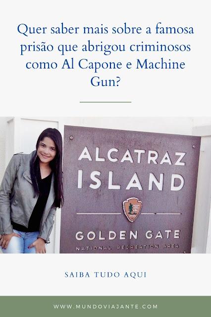 cartaz escrito alcatraz island