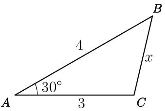 Demonstração da Lei dos Cossenos através do Teorema de Pitágoras - Exercício 1